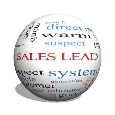 Sales Lead 3D sphere Word Cloud Concept with great terms such as prospect, quote, funnel and more. photo