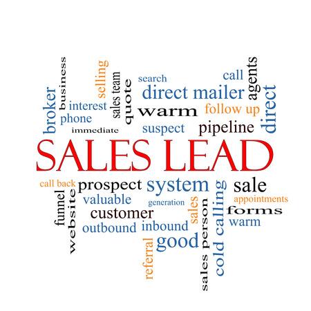 prospect: Sales Lead Word Cloud Concept avec des termes tels que perspective, citation, entonnoir et plus.