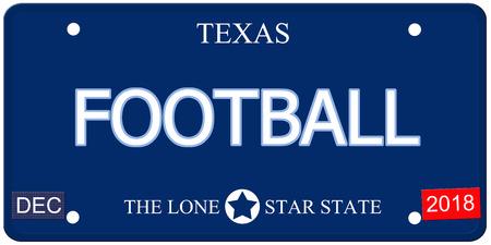 Een nep-imitatie Texas kenteken met het woord voetbal en de Lone Star State het maken van een geweldig concept.