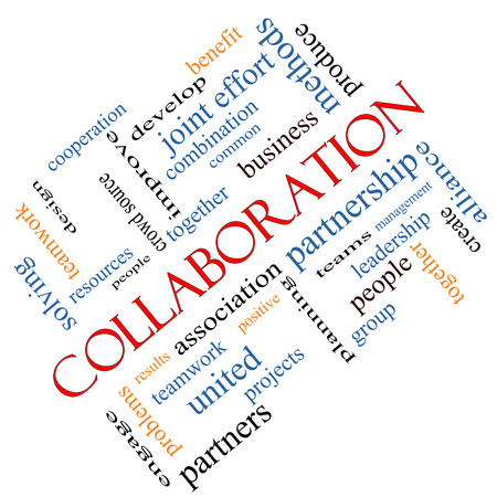 source: Collaboration Word Cloud Concept angled with great terms such as together, people, teams and more.