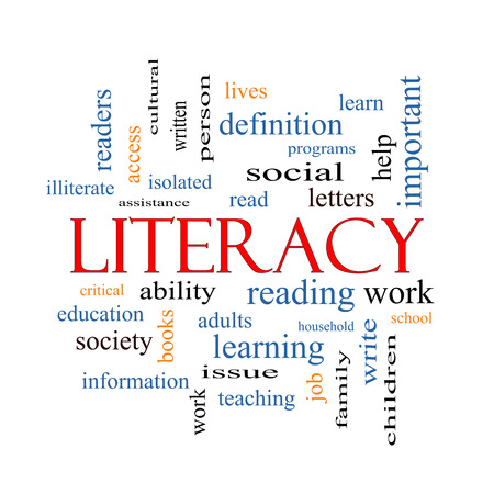 literacy: Literacy Word Cloud Concept with great terms such as read, write, education and more.