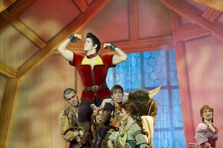 GREEN BAY, WI - FEBRUARY 10: Gaston held high from Beauty and the Beast at the Disney Princesses show at the Resch Center on February 10, 2012 in Green Bay, Wisconsin.