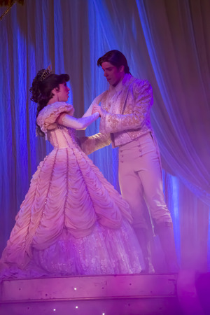 belle: GREEN BAY, WI - FEBRUARY 10:  Belle and Prince Dancing together from Beauty and the Beast at the Disney Princesses show at the Resch Center on February 10, 2012 in Green Bay, Wisconsin.