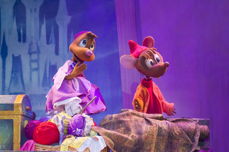 GREEN BAY, WI - FEBRUARY 10:  Mice from Cinderella from Cinderella at the Disney Princesses show at the Resch Center on February 10, 2012 in Green Bay, Wisconsin.