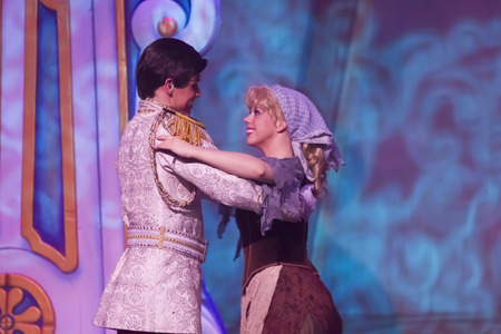 GREEN BAY, WI - FEBRUARY 10:  Cinderella in rags dress with Prince from Cinderella at the Disney Princesses show at the Resch Center on February 10, 2012 in Green Bay, Wisconsin.