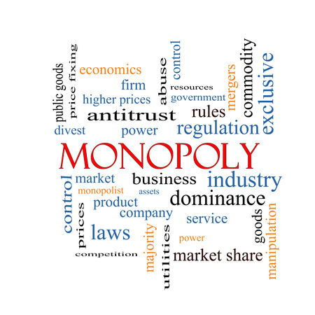 Monopoly Word Cloud Concept with great terms such as business, industry, dominance and more. photo