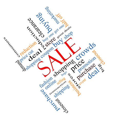 bogo: Sale Word Cloud Concept angled with great terms such as shopping, buy, deal and more.