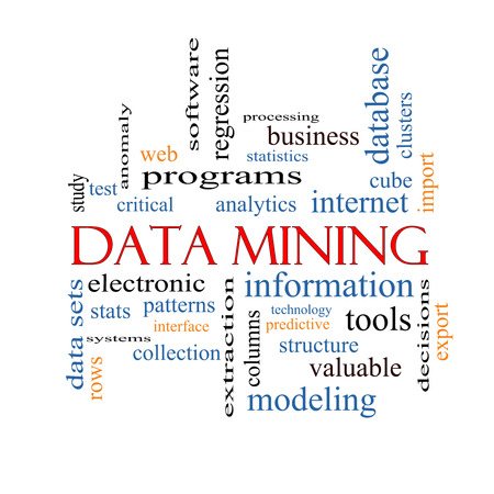 Data Mining Word Cloud Concept with great terms such as analytics, internet, statistics and more. photo