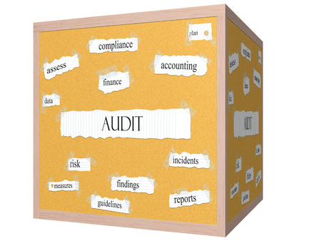 findings: Audit 3D cube Corkboard Word Concept with great terms such as finance, assess, findings and more.