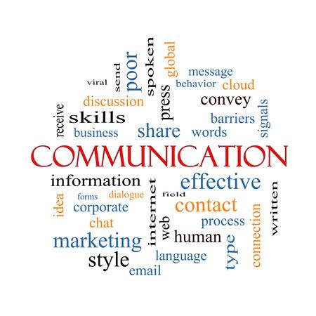 Comunicazione Nube Concetto Word con termini quali grandi imprese, il messaggio, la lingua e altro.