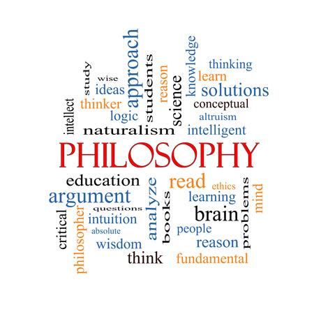 pensador: Filosofía Palabra Nube Concepto con los términos de la educación, el estudio, el pensador y mucho más.