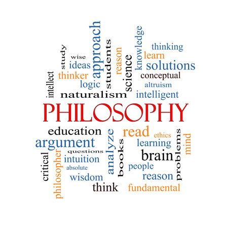Philosophy Word Cloud Concept with great terms such as education, study, thinker and more. photo