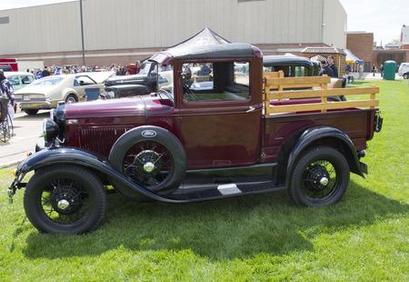 MENASHA, WI - MAY 16:  1930 Ford Pickup Truck at 7th Annual Car Show May 16, 2014 in Menasha, Wisconsin.