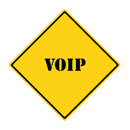 diamond shaped: A yellow and black diamond shaped road sign with the words VOIP making a great concept.