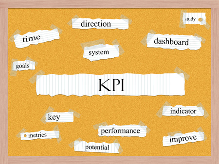 peg board: KPI Corkboard Word Concept with great terms such as key, performance, indicator and more. Stock Photo