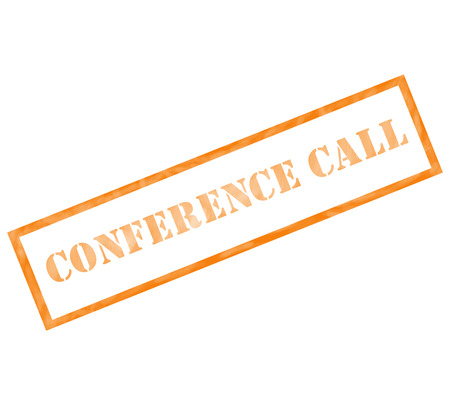 Conference Call Grunge orange Stamp weathered making a great concept.
