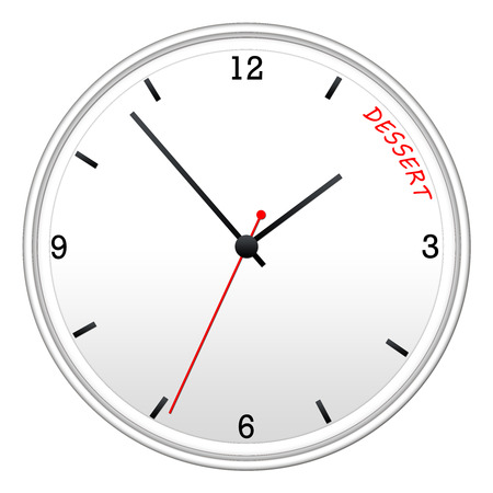Time for Dessert White Wall Clock making a great concept.