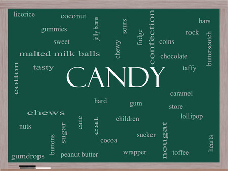 sours: Candy Word Cloud Concept on a Blackboard with great terms such as sweet, store, cane, bars and more. Stock Photo