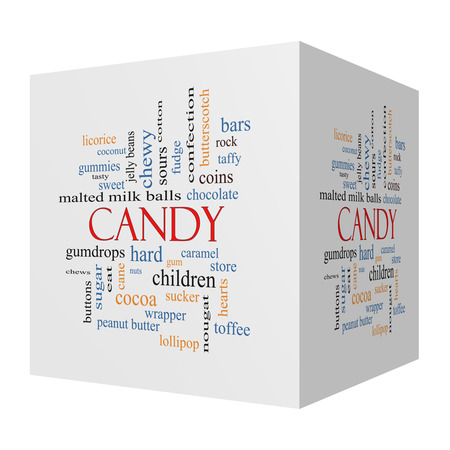 sours: Candy 3D cube Word Cloud Concept with great terms such as sweet, store, cane, bars and more.