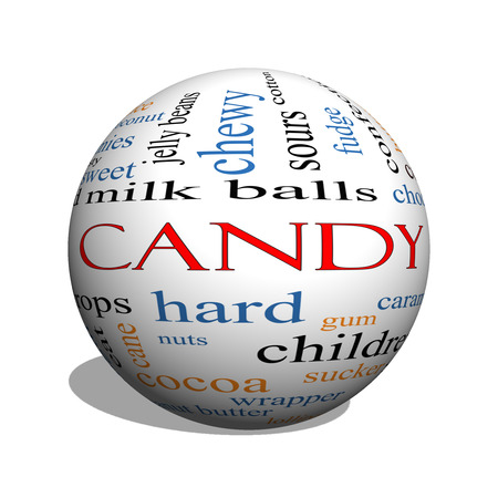 sours: Candy 3D sphere Word Cloud Concept with great terms such as sweet, store, cane, bars and more.