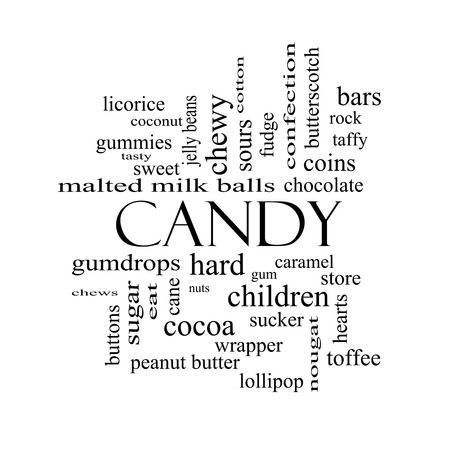 sours: Candy Word Cloud Concept in black and white with great terms such as sweet, store, cane, bars and more.