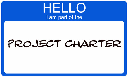 project charter: Blue Hello I am part of the Project Charter name tag making a great concept