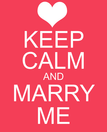Keep Calm and Marry Me Red Sign making a great concept. Imagens - 41955214