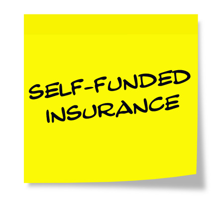 funded: Self Funded Insurance Yellow Sticky Note making a great concept