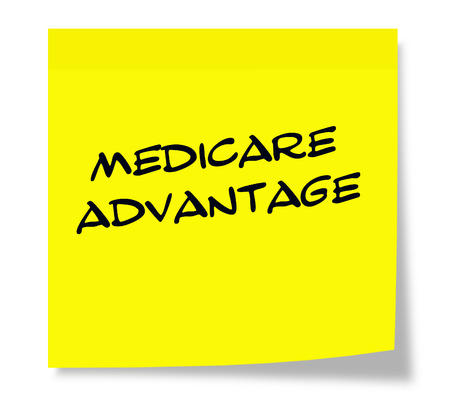 medicare: Medicare Advantage Yellow Sticky Note