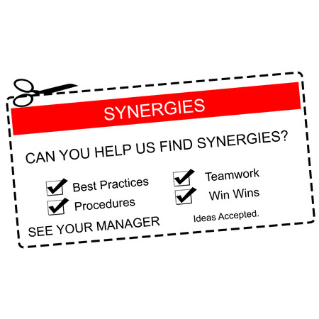 synergies: Synergies Red and White Coupon making a great concept for a business.