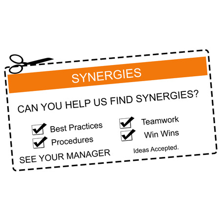 Synergies Orange and White Coupon making a great concept for a business.