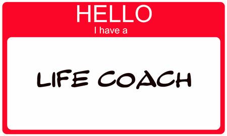 Hallo Ik heb een Life Coach Red Name Tag het maken van een geweldig concept