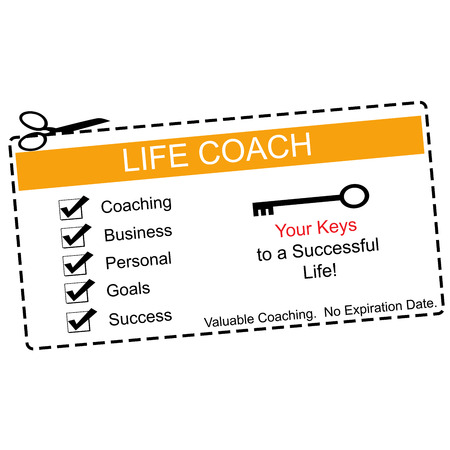 Life Coach Coupon Orange and White making a great concept