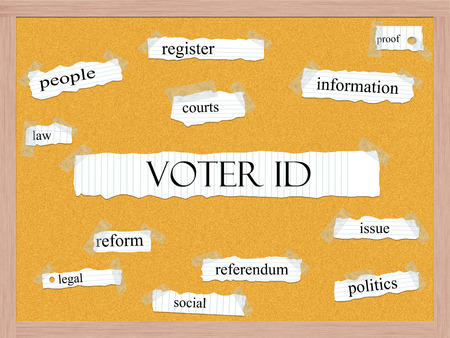 voter: Voter ID Corkboard Word Concept with great terms such as  and more.