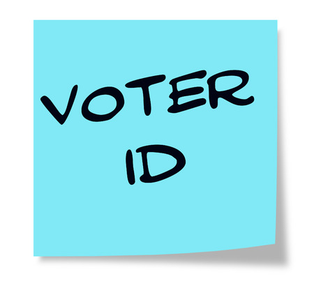 voter: Voter ID written on a blue sticky note making a great concept.