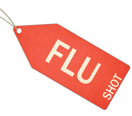 flu shot: Red Flu Shot tag making a great concept for flu season