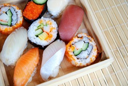 Set of sushi photo