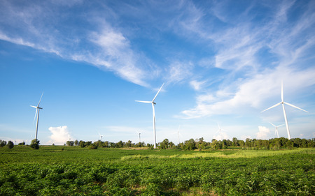 Wind energy wowers standing photo