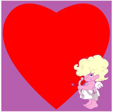 Cartoon Cupid standing
