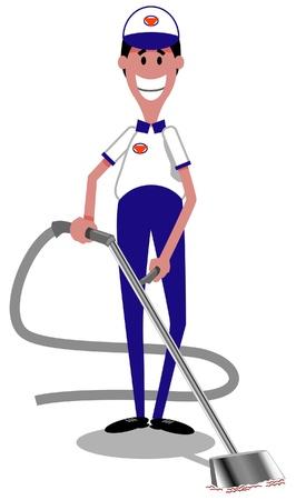 幸せのカーペットの洗剤の漫画のイメージ
