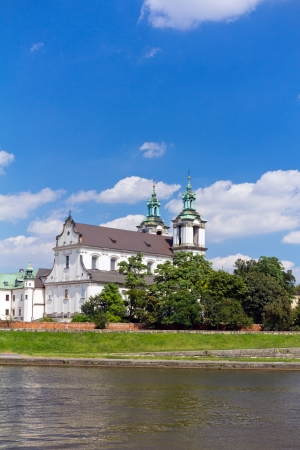 view on skalka church  in old town of  cracow in  poland