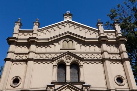 tempel synagogue in distric of krakow kazimierz in poland on miodowa street