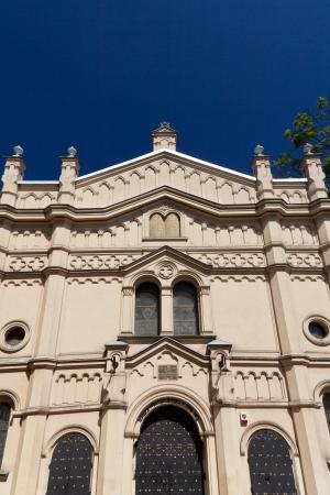 kuzmir: tempel synagogue in distric of krakow kazimierz in poland on miodowa street