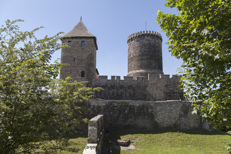 silesia: view on Bedzin Castle in Poland Upper Silesia Editorial