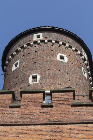 cracow: view on Sandomierska Tower on Wawel Royal Castle , Cracow, Poland