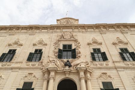 castille: Auberge de Castille in capital of Malta - Valletta, Europe.