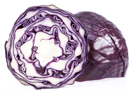 red cabbage: red cabbage isolated on white background isolated on white background.