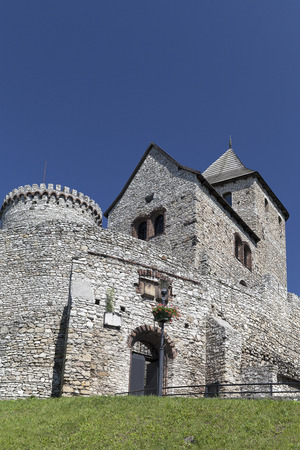 silesia: view on Bedzin Castle in Poland on a background of blue sky,  Upper Silesia
