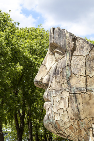 sculptor: FLORENCE, ITALY - MAY 18, 2014 : Sculpture by Igor Mitoraj in the Boboli Gardens in Florence, Italy. Works of Polish sculptor Igor Mitoraj, often gigantic size, stand in representative sections of many cities in the world. Editorial