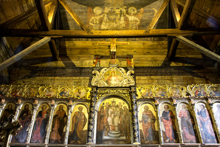 iconostasis: Iconostasis in the church Radru?, eastern Poland. Stock Photo